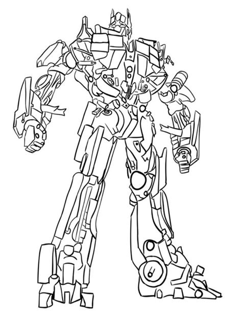 Optimus Prime Coloring Page by Optimus Prime Coloring Pages Free Printable Optimus Prime