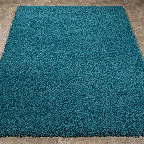amazon com turquoise teal shaggy authentic sweet home stores cozy shag collection solid