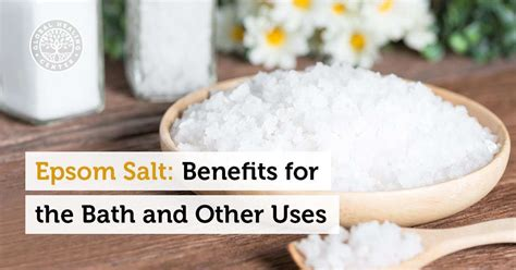 Epsom Salt Bath Detox Kidneys by Epsom Salt 10 Benefits For The Bath And Other Uses