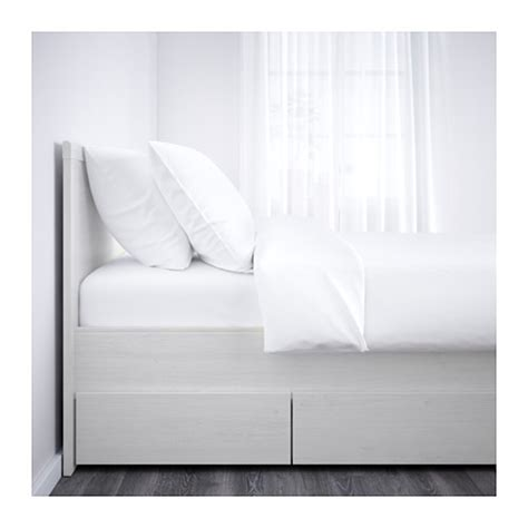 Brusali Ikea Bed Frame Brusali Bed Frame With 4 Storage Boxes White Lur 246 Y Standard King Ikea