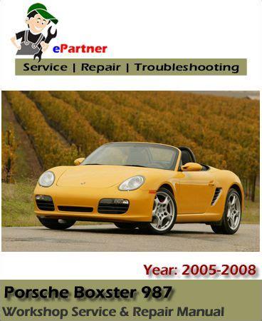 how to download repair manuals 2006 porsche boxster electronic valve timing download porsche boxster 987 service repair manual 2005 2008 porsche service manual