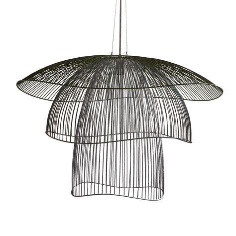 lustre papillon suspension papillon gm noir 216 100cm forestier