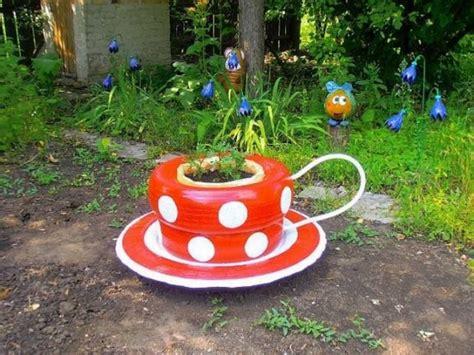 Garden Accessories Sale Teacup Tyre Planters Guides Inspiring Ideas