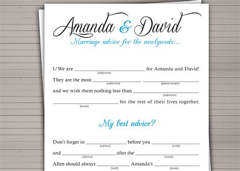 wedding libs template printable wedding mad lib guest book alternative by