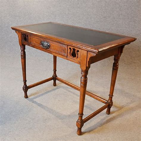 antique study table antique desk leather top oak writing study table