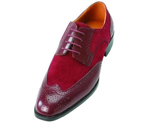 burgundy dress shoes bolano s faux suede perforated burgundy lace up wing
