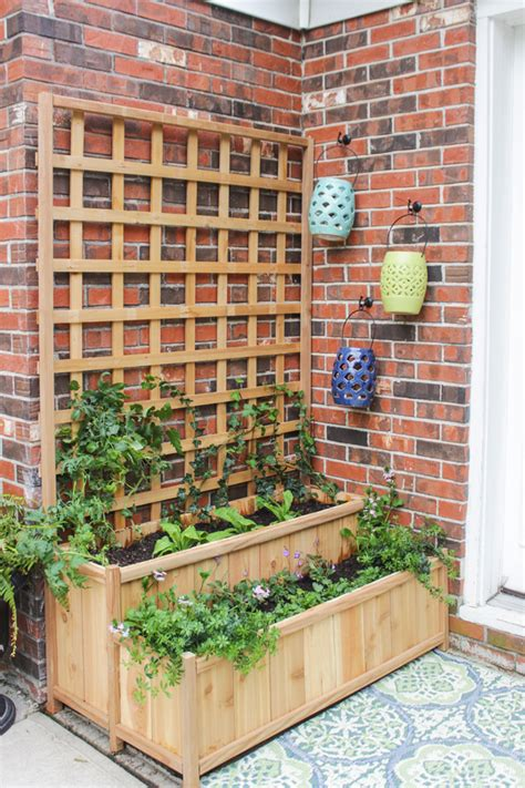 planters with trellis tiered planter with trellis shades of blue interiors