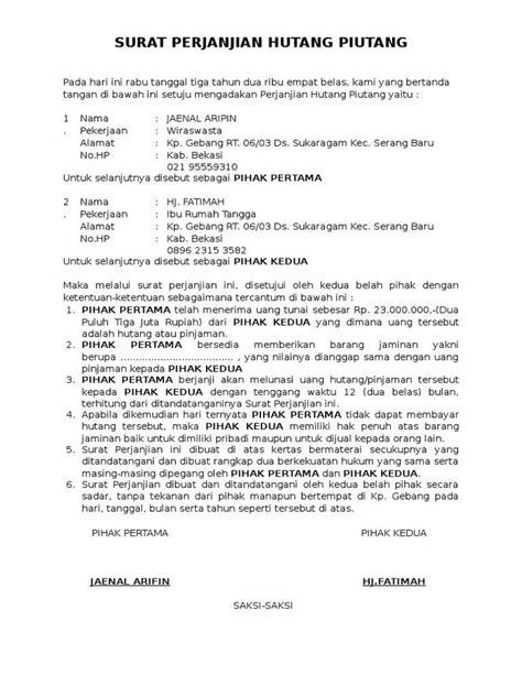 90 contoh surat perjanjian kerjasama yang baik terlengkap surat