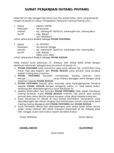contoh surat kuasa jaminan sertifikat rumah contoh ert