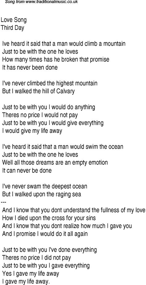Christian Songs | Christian Worship Song Lyrics: Love Song