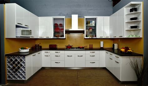Outside Kitchen Cabinets White High Gloss Painted Slab Frameless Kitchen Cabinets