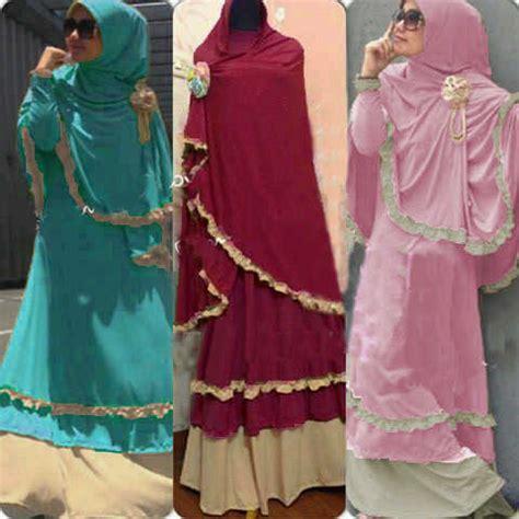 Baju Muslimah Yara Syari Maroon Baju Gamis Terbaru 2017 baju gamis ghumaisyah set bergo koleksi busana muslimah syarii model terbaru
