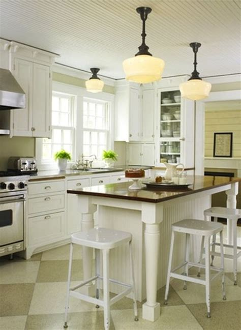 Farmhouse Kitchen Island Lighting Checkerboard Kitchen Floor Design Ideas