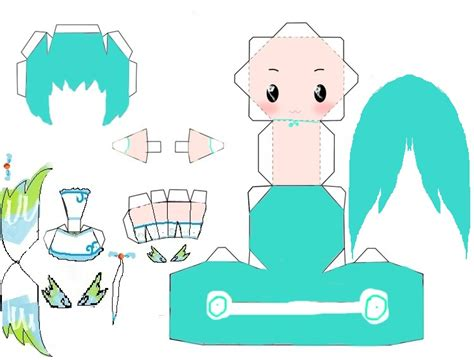 Miku Papercraft - miku hatsune papercraft by lemonypv on deviantart
