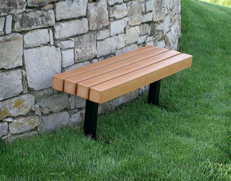 park bench materials recycled plastic backless park bench
