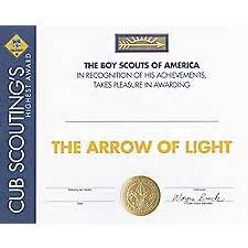 Arrow Of Light Certificate Template Arrow Of Light Certificate