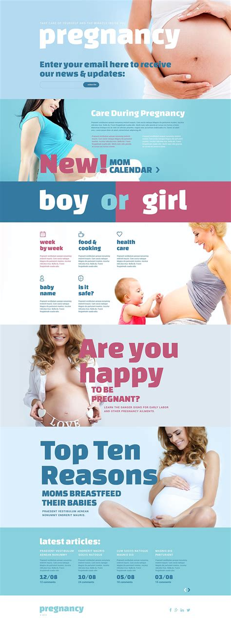 pregnancy responsive landing page template 54987