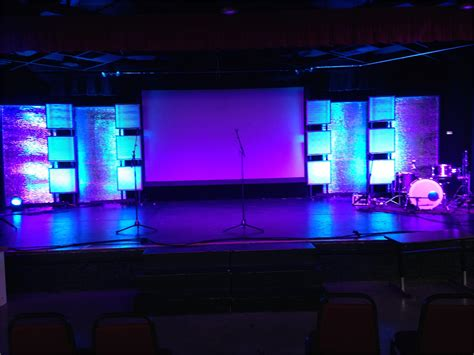 small stage lighting ideas portable reflections church stage design ideas