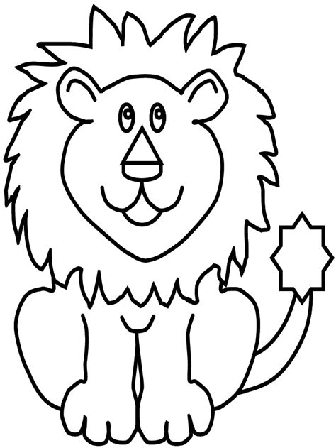 simple lion coloring page angry lion face easy coloring pages