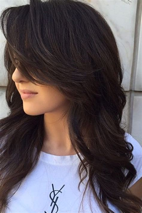 hair styles cut hair in layers and make curls or flicks best 25 layered side bangs ideas on pinterest side bang