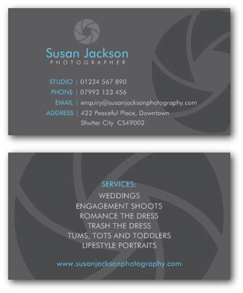 business card layout template for front and back printing business card front and back photographer business cards