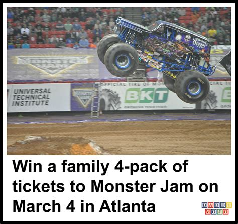 monster truck jam atlanta win a family 4 pack of tickets to monster jam on march 4