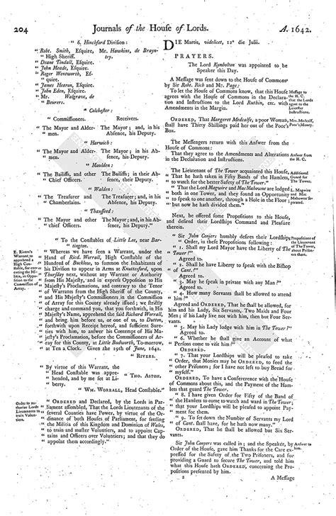 mla letter format house of journal volume 5 11 july 1642 1767