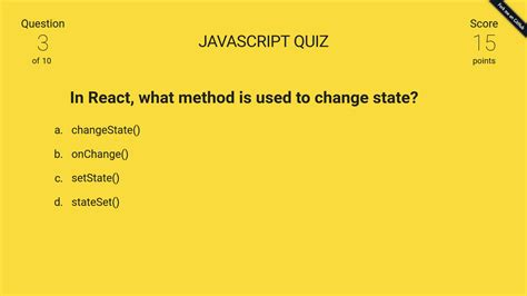 javascript quiz template javascript quiz made with react