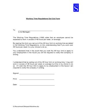 48 hour opt out form template personal details form for templates fillable