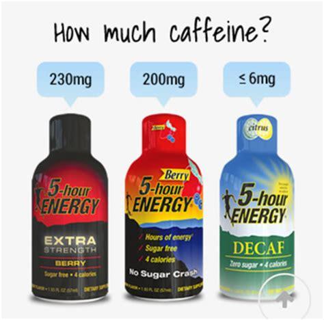 energy drink vs caffeine pills caffeine in 5 hour energy