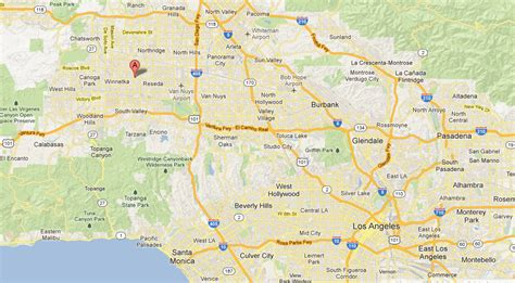 nuys california map location free engine image