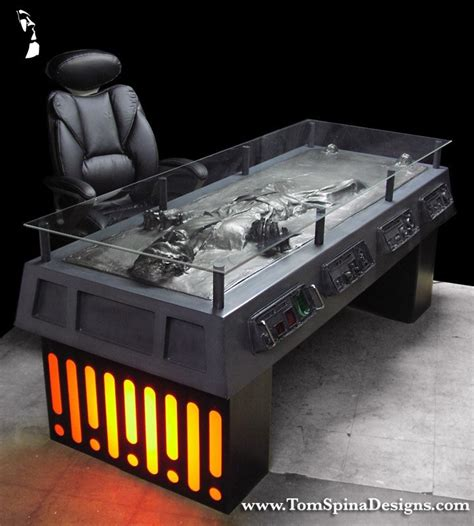 star wars desk accessories han solo carbonite desk 1