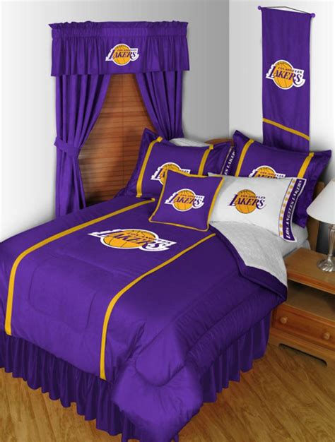 lakers curtains los angeles lakers nba sidelines collection by sports
