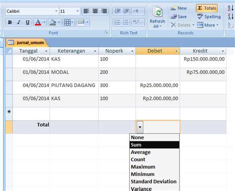cara membuat jurnal di word trik membuat jurnal umum di microsoft access 2007