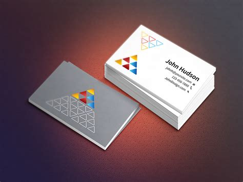 business card photoshop template psd 55 best psd business card templates designbump