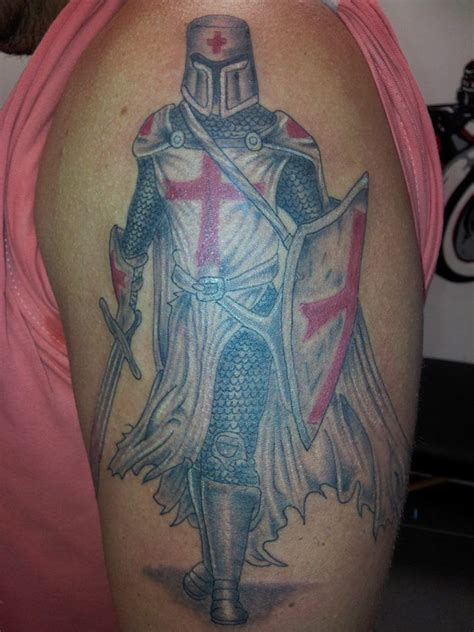 tattoo images designs burial with shield templar arm