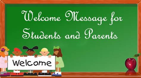 welcome message welcome message for students and parents