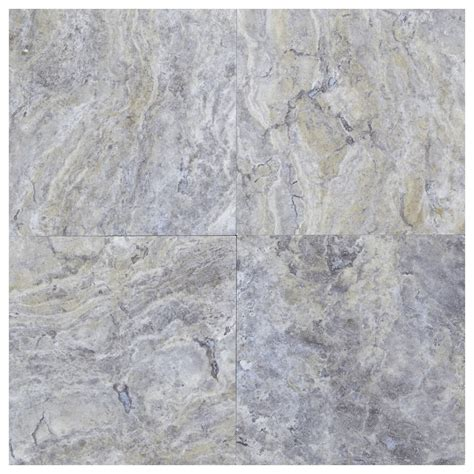 silver honed filled travertine tiles 18x18 natural stone
