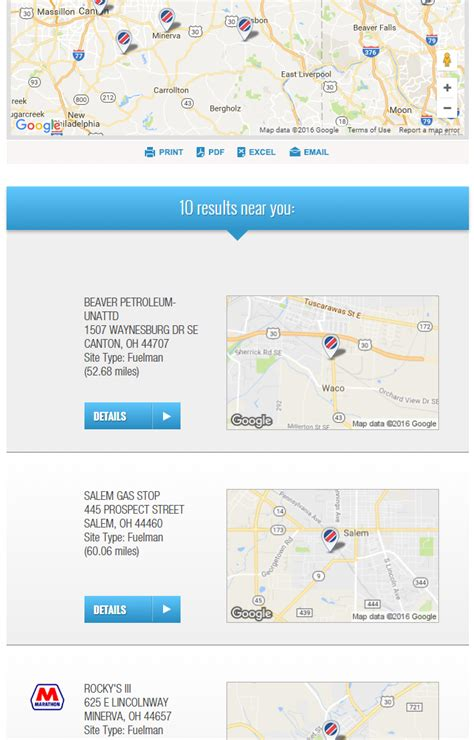 Search By Location How To Find Road Diesel Locations Cnrgfleet