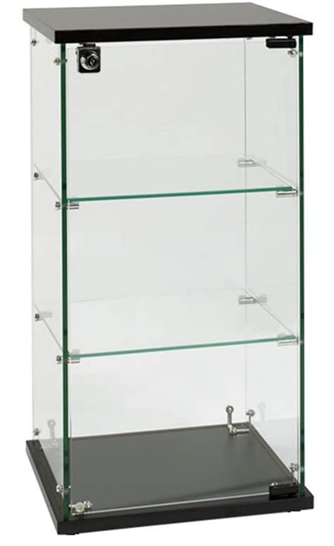glass display cabinet the design tabloid countertop glass display case 2 shelves