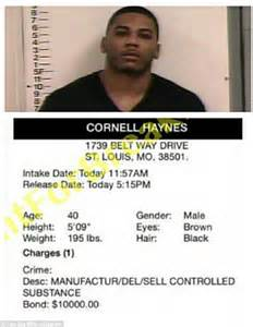 Nelly Criminal Record Rapper Nelly Arrested For Drugs And Guns Possession