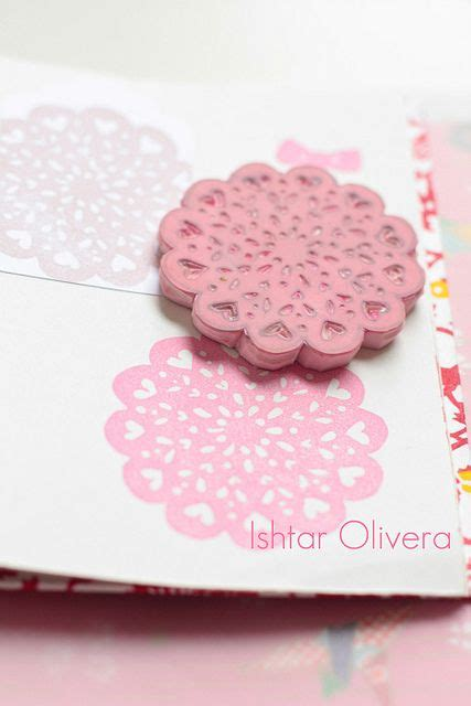 scrapbooking rubber sts doily st by ishtar olivera via flickr cardmaking