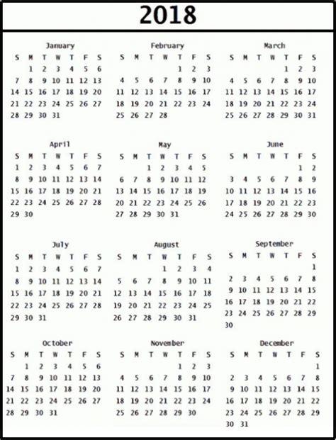 layout calendar 2018 printable calendar 2018 word document format