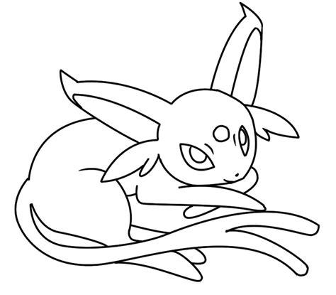 pokemon coloring pages espeon espeon coloring pages murderthestout