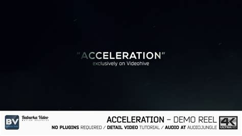 after effects demo reel tutorial acceleration demo reel project for after effects