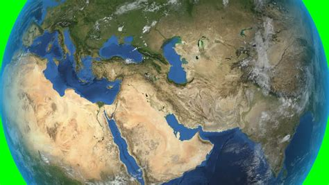 middle east map high res orbiting the middle east photorealistic 3d animation