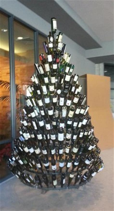 christmas tree made from wine bottles wine bottle tree picture of epicurean hotel autograph collection ta tripadvisor