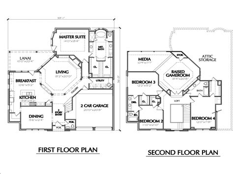 simple 2 story house floor plans two story house floor plans simple two story house two