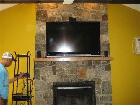install a fireplace canaan ct tv install on above fireplace