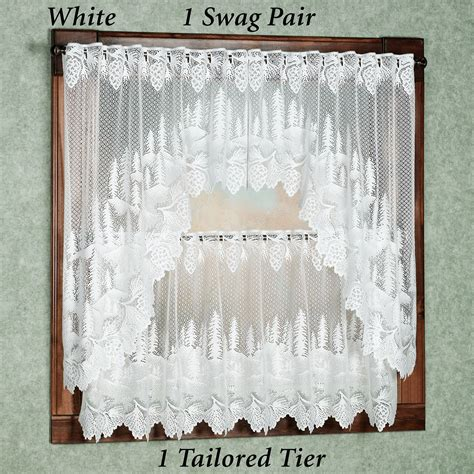 pine curtain pine cone lace shower curtain